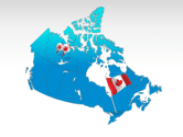 Canada: Canada PowerPoint Map #00023