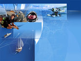 Mariner's+compass: Sea Tourism PowerPoint Template #00042