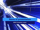Abstract/Textures: Blue Skyscrapers PowerPoint Template #00062