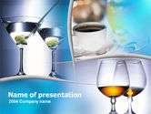 Drinking alcohol: Drinks PowerPoint Template #00071