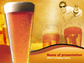 Drinking alcohol: Beer PowerPoint Template #00085