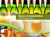 Drinking alcohol: Beer Bottles PowerPoint Template #00086