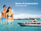 Hawaii+theme: Exotic Cruise PowerPoint Template #00143