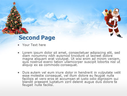 Free Christmas PowerPoint Template, Xmas Slide 2