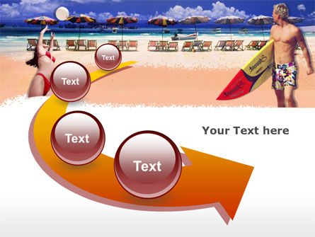 Free Surfing Beach PowerPoint Template Slide 6