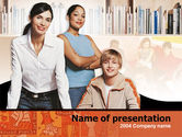 Study+abroad: Team Learning PowerPoint Template #00239