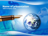 Affiliate-program: World Wide Business PowerPoint Template #00324