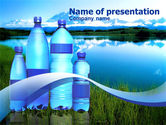 Drinking alcohol: Bottled Mineral Water PowerPoint Template #00378