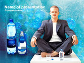 Drinking alcohol: Pure Mineral Water PowerPoint Template #00379