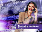 Business: Free Business Lady Speaking PowerPoint Template #00459