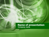 Northern lights: Green Lights Abstract PowerPoint Template #00493