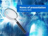 Abstract/Textures: Magnifying Glass PowerPoint Template #00496