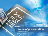 Religious/Spiritual: Holy Bible PowerPoint Template #00542