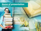 Study+abroad: Study Hard PowerPoint Template #00565