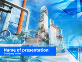 Gas+furnace: Oil Refinery PowerPoint Template #00599