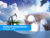 Gas+furnace: Oil Storage PowerPoint Template #00601