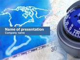 Education & Training: Business Compass PowerPoint Template #00623