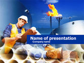 Petroleum+chemical+plant: Piping PowerPoint Template #00660