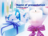 Holiday/Special Occasion: Christmas Candles PowerPoint Template #00733