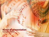 Musical+instruments+templates: Harp PowerPoint Template #00777