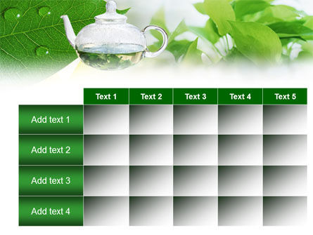 Green Tea PowerPoint Template Slide 15