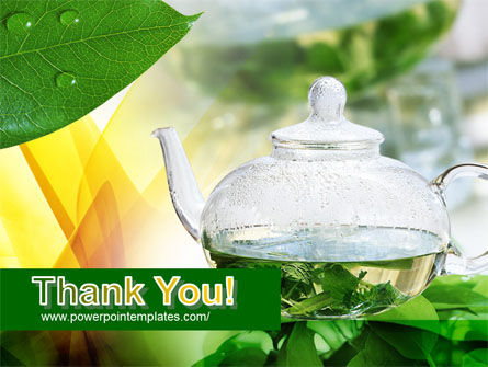 Green Tea PowerPoint Template Slide 20