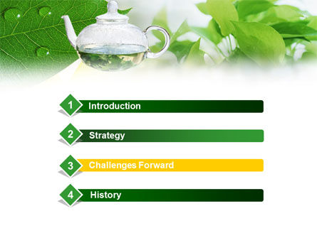 Green Tea PowerPoint Template Slide 3