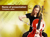 Musical+instruments+templates: Cello PowerPoint Template #00984