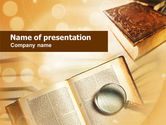 Study+abroad: Study of Books PowerPoint Template #00986
