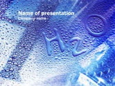 Drinking alcohol: Water Formula PowerPoint Template #01177