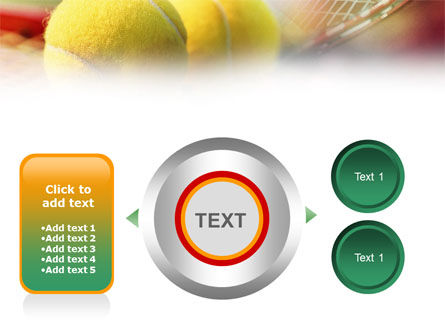 Tennis Balls And Rackets PowerPoint Template Slide 12
