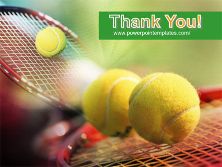 Tennis Balls And Rackets PowerPoint Template Slide 20