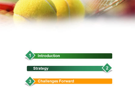 Tennis Balls And Rackets PowerPoint Template Slide 3