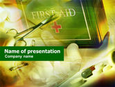 Geriatric+nursing: First Aid Chest PowerPoint Template #01222