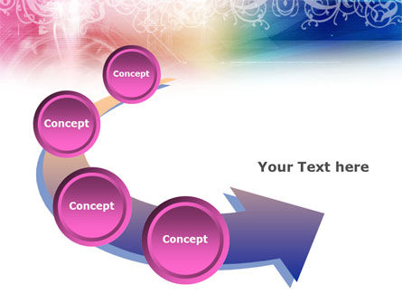 Rainbow Color Theme PowerPoint Template Slide 6