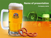 Drinking alcohol: Bavarian Beer Festival PowerPoint Template #01430