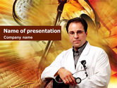 Medical: Doctor On A Light Orange PowerPoint Template #01435