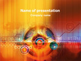 Technology and Science: Explosion PowerPoint Template #01530