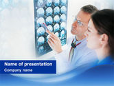 Medical: Tomography Study PowerPoint Template #01560