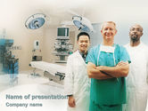 Medical: Medical Staff In The Operating Room PowerPoint Template #01772