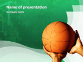 Sports: Throw Basketball PowerPoint Template #01803