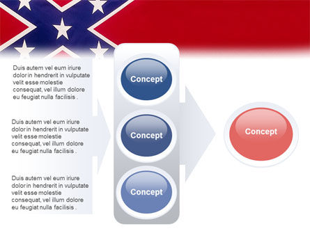 The Battle Flag of the Confederacy PowerPoint Template Slide 11