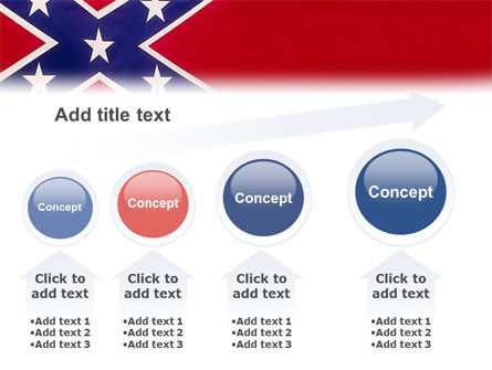 The Battle Flag of the Confederacy PowerPoint Template Slide 13