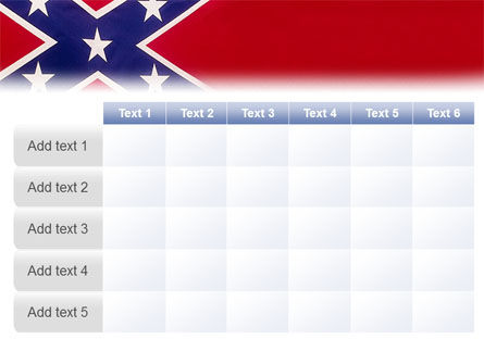 The Battle Flag of the Confederacy PowerPoint Template Slide 15