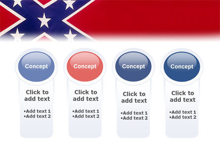 The Battle Flag of the Confederacy PowerPoint Template Slide 5