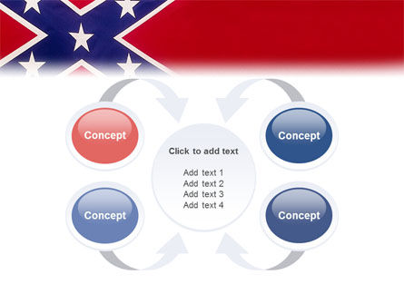 The Battle Flag of the Confederacy PowerPoint Template Slide 6