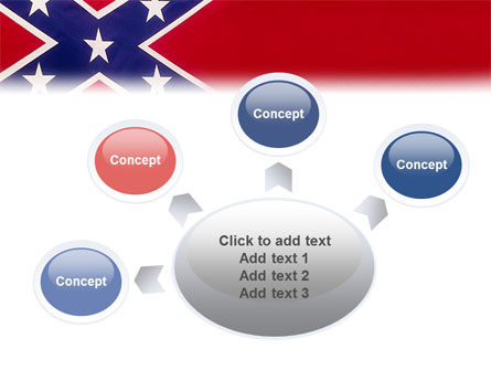 The Battle Flag of the Confederacy PowerPoint Template Slide 7