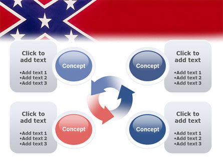 The Battle Flag of the Confederacy PowerPoint Template Slide 9