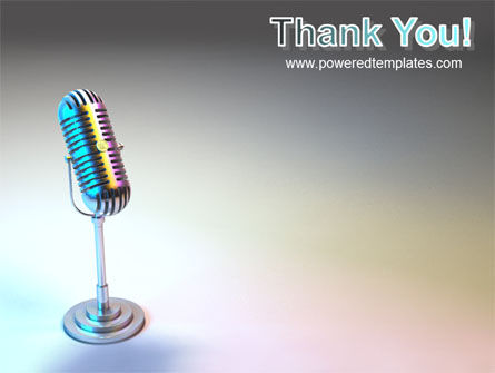Microphone PowerPoint Template Slide 20
