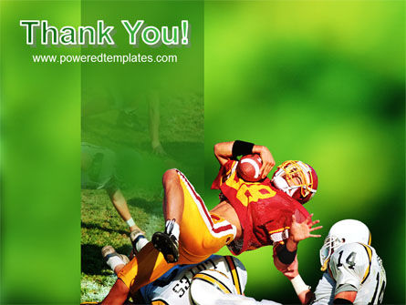 Gridiron Football PowerPoint Template Slide 20